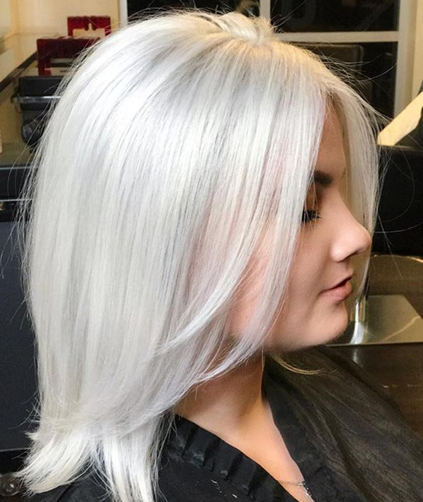 رنگ مو سفید طلایی