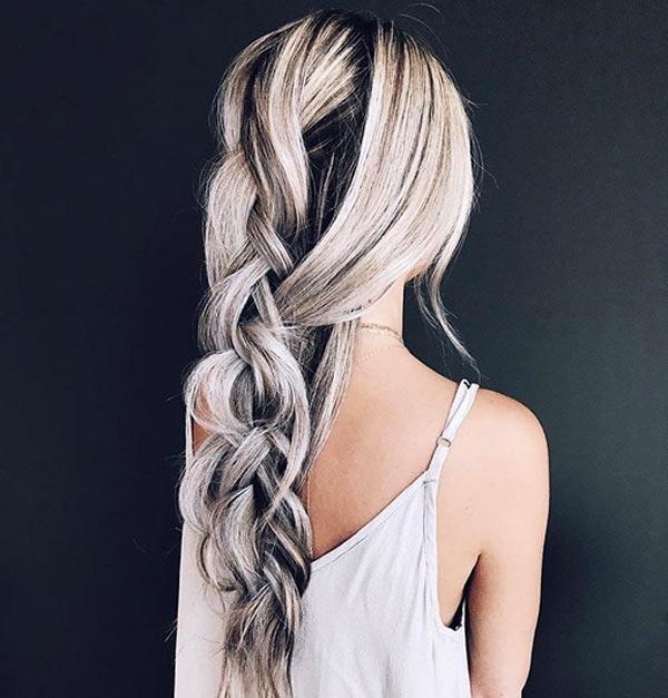 رنگ مو سفید و مشکی