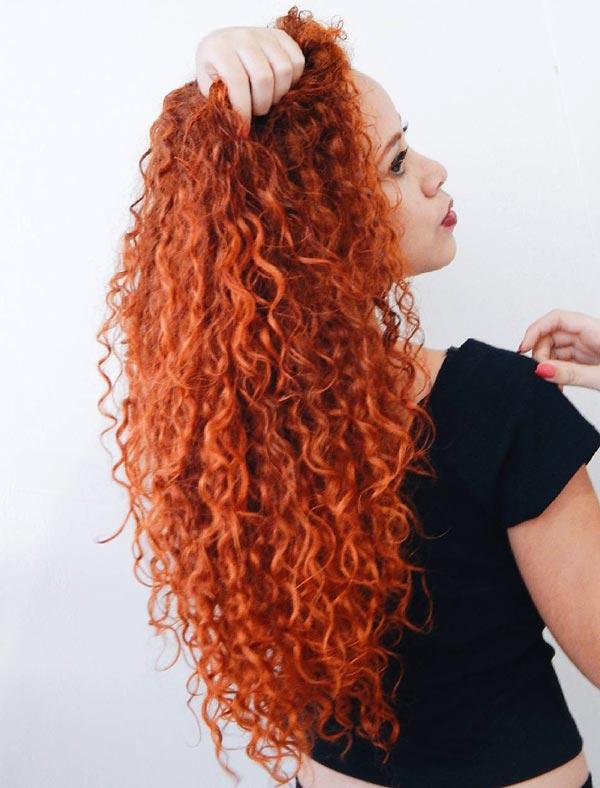 رنگ مو نارنجی تیره