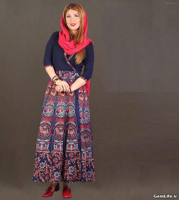 مدل مانتو و دامن سنتی بلند
